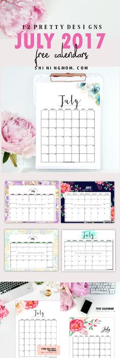Free Printable Blank Monthly Calendars - 2017, 2018, 2019 ...