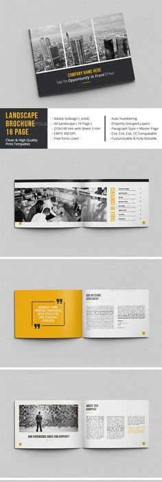 Minimal Brochure Vol II | Brochures, Layouts and Editorial