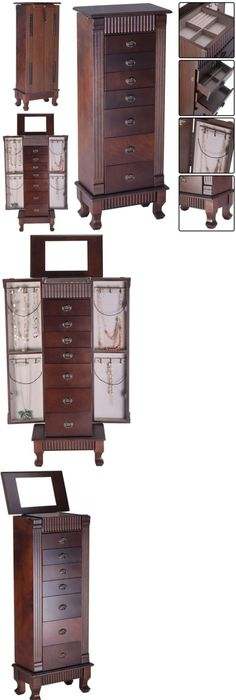 Jewelry Boxes 3820 Jewelry Armoire Storage Box Organizer