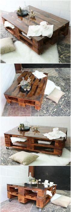 Ultimate Crate Furniture Design Ideas \u2013 A DIY Project - couchtisch aus massivholz 25 designs