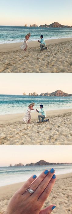 Tina And Andrews Proposal On Howheasked Beach Proposal