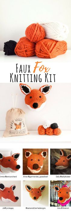 Faux hare knitting kit make your own forest friend diy taxidermy faux fox knitting kit make your own forest friend diy taxidermy trophy head pattern this kit is the perfect way to kickstart your knitting hobby solutioingenieria Choice Image