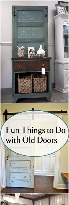 refurbishing furniture ideas. Fun DIY Projects You Can Make With Old Doors. Amazing Upcycled Door Projects. Refurbishing Furniture Ideas
