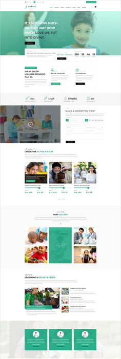 Hope | Non-Profit, Charity & Donations Site Template | Programming ...