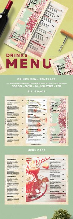 Thai Restaurant Menu Print Bundle Templates Psd Vector Eps