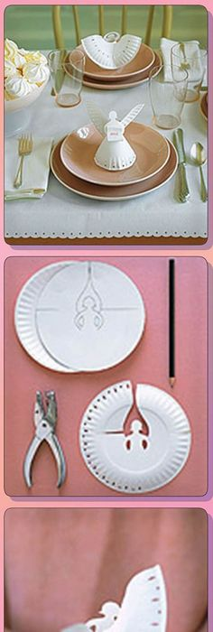 Paper Plate Angels Template Free Video Instructions | Angel, Place ...
