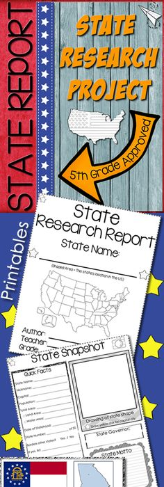 State Report Research Project  Website Social Studies And Create