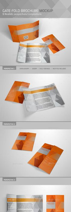 A A Single Gate Fold Brochure Mockups  Mockup Brochures And