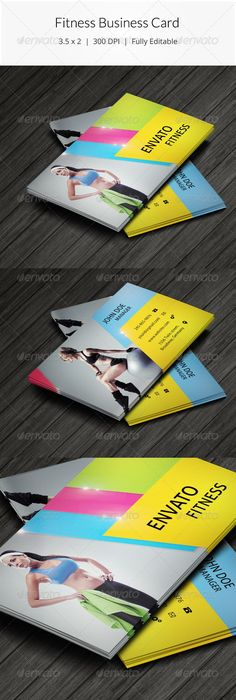 Personal Trainer Fitness Business Card Fitness Yoga Spa - 35 x2 business card template
