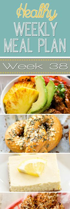 Healthy Meal Plan Week   Healthy Weekly Meal Plan Weekly Meal