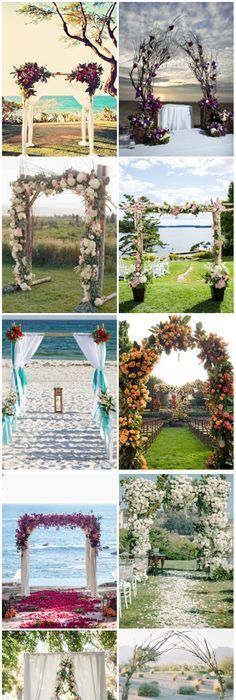 40 great ideas of beach wedding arches casamento lindos e blog 25 wedding arches decoration ideas junglespirit Choice Image