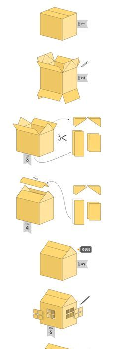 how to make a cardboard house step by step