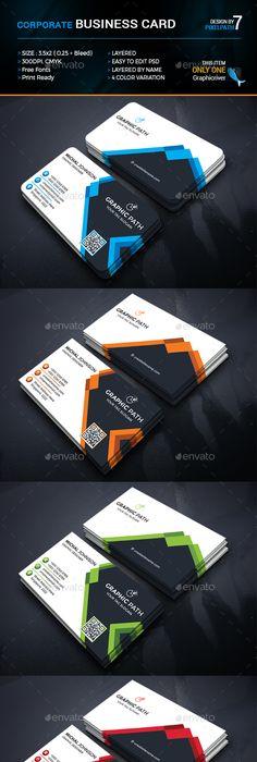 Corporate business card template psd couvertures pinterest corporate business card template psd couvertures pinterest cartes de visita visita e carto reheart Choice Image