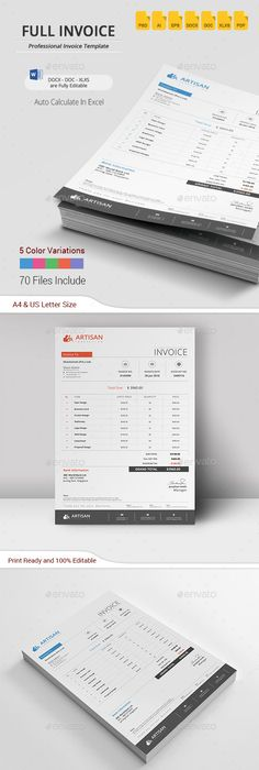 Invoice design by hrasheed on deviantART Playground Pinterest