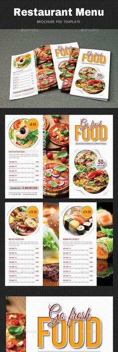 Trifold Fast Food Brochure Restaurant Promotions Brochure