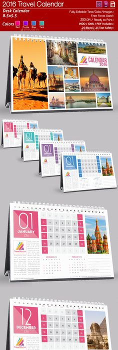 Desk Calendar  Design Template  Calendars Stationery Design