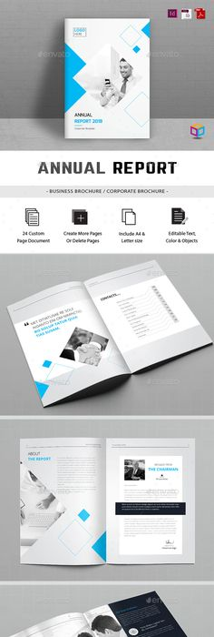 Annual Report Template On Behance  Brochure Templates