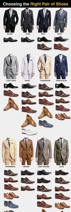 How to pick the perfect pair of shoes for every color suit Read more:  www.alles für den Gentleman - www.