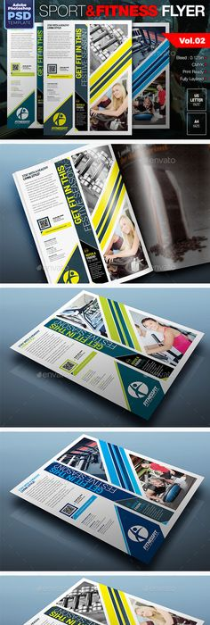 Fitness Gym Flyer Template Vol2 Flyer Template Gym And Template