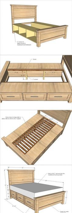 DIY bed with storage cubbies or drawers by marcia | Matt boy ...