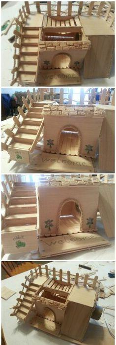 spielplatz f r hamster aus pappkartons f r tiere nager v gel pinterest pappkarton. Black Bedroom Furniture Sets. Home Design Ideas