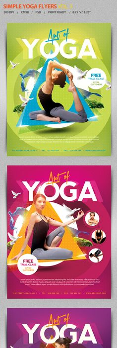 Yoga Flyer Template Photoshop Psd Marketing Therapy Available