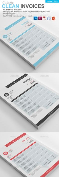 Editable Modern Professional Excel Business Invoice By Inkpower