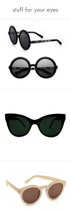 8dc6ef35bdb Linda Farrow Cat Eye Sunglasses ( 350) ❤ liked on Polyvore featuring  accessories