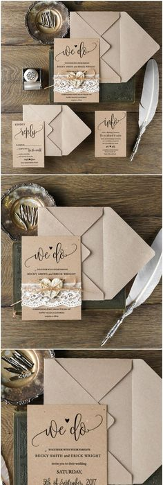 30 Our Absolutely Favorite Rustic Wedding Invitations   Wedding ...