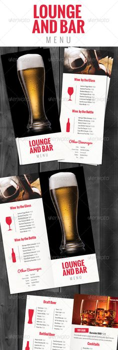 Lounge Bar Drink Menu Bold  Drink Menu Menu And Menu Templates
