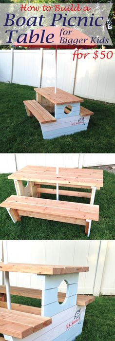 Ana White | Build A Build A Bigger Kids Picnic Table | Free And Easy DIY  Project And Furniture Plans | Crafts | Pinterest | Kids Picnic, Picnic  Tables And ...