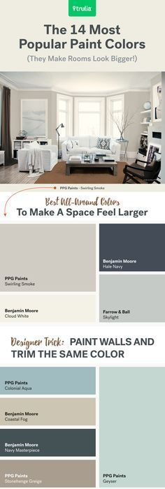 Tranquil color scheme calming colors benjamin moore and - What colors make a room look bigger and brighter ...