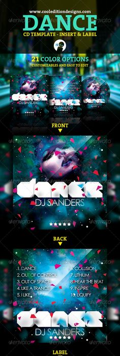 Dj Mix Cd Cover Artwork Template  Mix Cd Cd Cover And Template