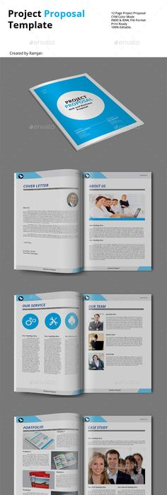 Web Site Advertising Proposal Template Indesign Indd Download