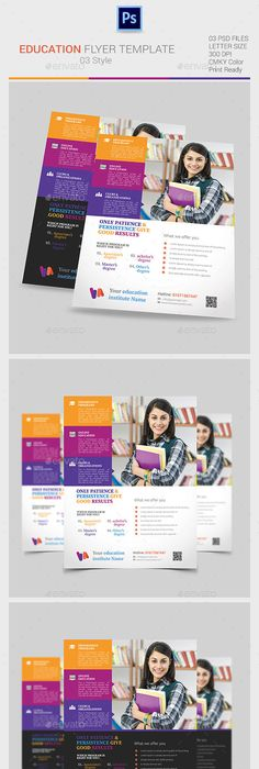 School Education Flyer Template  Flyer Template