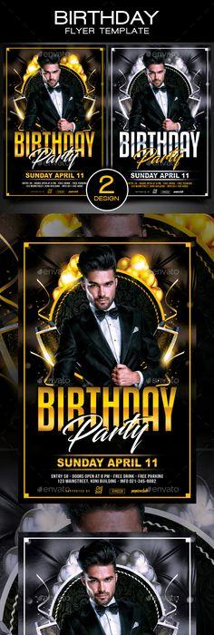 Birthday Flyer  Birthdays Fonts And Font Logo