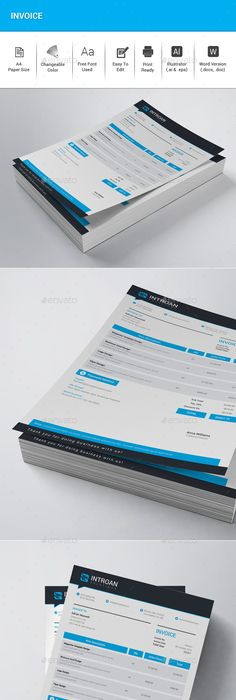 Colorful Business Letterhead Business, Template and Graphics - what is invoice
