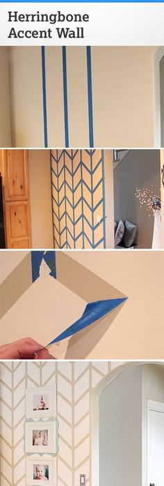 Lovely DIY washi tape wall Dorm room inspiration for my one and only Pinterest Top Design - Popular herringbone wall For Your Plan