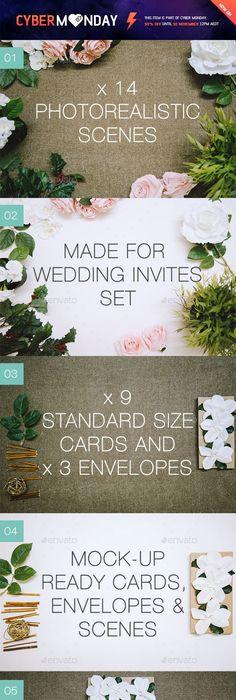 Free Elegant Invitation Card Mockup Free CU PU Mock Ups  Digital - best of wedding invitation design software free download