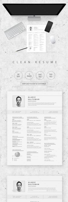 Modern Simple Resume Simple resume, Resume cover letters and Template