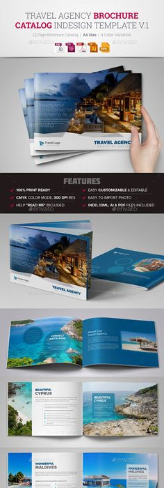 Travel Agency Brochure Catalog Indesign 2 Corporate Brochure