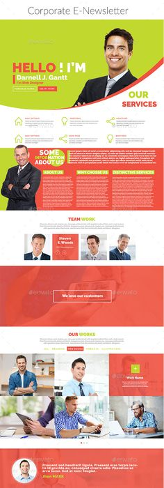 Corporate Newsletter  Newsletter Templates Template And Newsletter