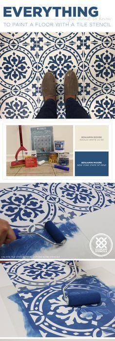 Hate Your Tile Floors Paint Them Painted Tiles Tile