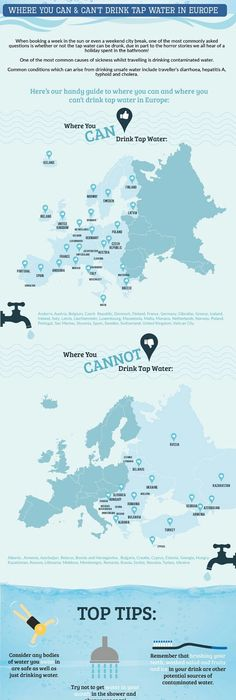 Facts about water, Bottled vs tap water Created by user in - new world map infographic image