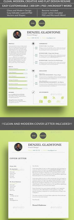 Retro Resume Template, Resume cv and Cv template - download resume template
