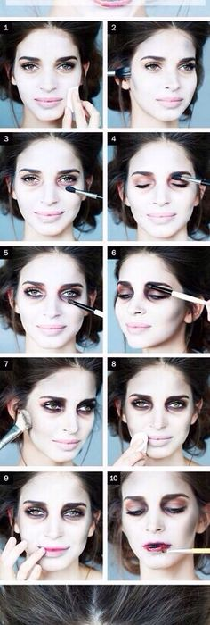 15 Maneras de maquillarte para lucir como una caricatura Makeup - easy makeup halloween ideas