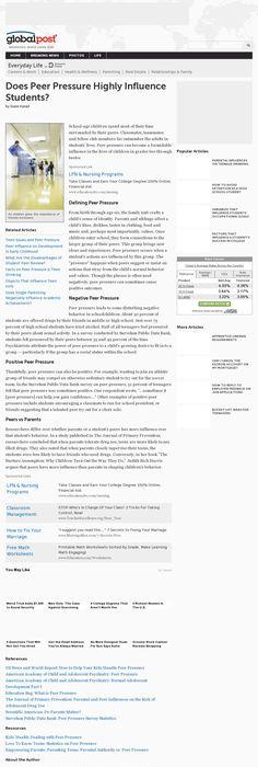 The website \u0027  wwwstudymode/essays/Teenagers-Drugs-Peer