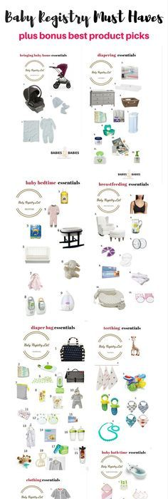 The Ultimate Baby Registry Checklist  Baby Registry Checklist