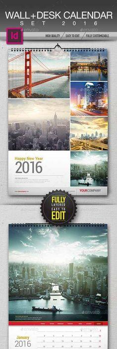 Desk Calendar 2016 (Template) 470236 Calendar Pinterest