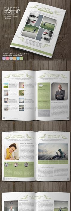 Newsletter Design Adobe Illustrator Photoshop  Indesign Created